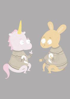 #illustration #unicorn #rabbit #gobelins
