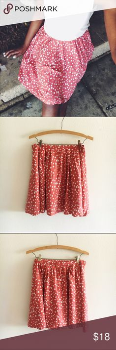 Pink Polkadot Skirt Channel your sweet side in this Polkadot skirt from Forever 21. Length 18 in. | Waist 29 in. | No damage, trades, or lowballing. Forever 21 Skirts Circle & Skater