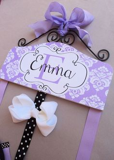 HAIR BOW HOLDER Personalized New Inverness by HairBowHolders.....I could make this