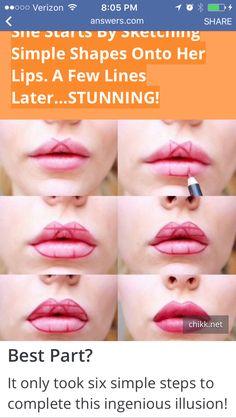 Using lip liner for fuller looking lips