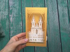 Prague pop up card The Church of our Lady Before Tyn 3D card Prague gifts Christmas souvenirs