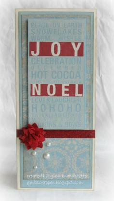 Gina's Little Corner of StampinHeaven: A Frosted Poster Tidings #Frosted