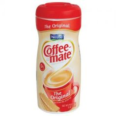 This container of Coffee Mate Creamer  looks real but it's not. It's really a secret hidden safe in disguise.