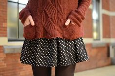 Let's try this fall: Sweaters and dresses