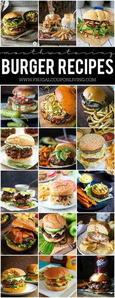 Mouthwatering Burger Recipes on Frugal Coupon Living. Handpicked hamburger recipe you can perfect at home on your own! The best burger Ideas #recipe #burger #burgerrecipes
