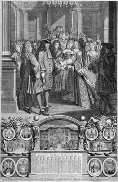 Louis XIV and his Court at the birth of his great grandson Louis, Duke of Brittany, 1704