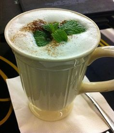 Chocolate mint coffee.This chocolate mint coffee is excellent as an after dinner coffee.