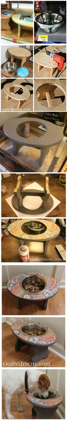DIY Super Simple Dog Feeder 2