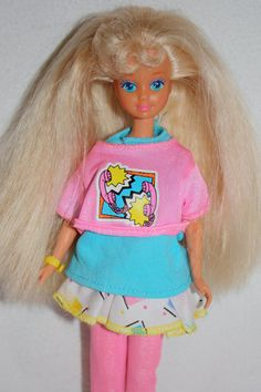 Vintage 1980s Blond Skipper Barbie Doll with Original Outfit and Accessories