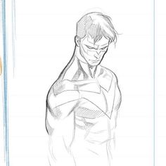 Nightwing by Clayton Henry Superhero Sketches, Cartoon Sketches, Art Sketches, Character Drawing, Comic Character, Character Design, Batman Comic Art, Batman Comics, Nightwing