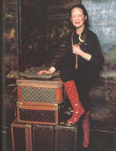 Diana Vreeland... It is chic to wear blush other places than your cheek (my quote)Love her!!