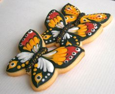 Monarch Butterfly summer cookies