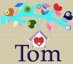 Geboorte kaartje Tom