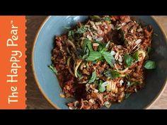 Spaghetti Bolognaise - 5 minute dinner - Vegan - YouTube - Färs på svamp och linser