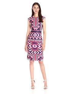 Vince Camuto Women's Geometric Printed Bodycon Dress - http://darrenblogs.com/2016/06/vince-camuto-womens-geometric-printed-bodycon-dress/