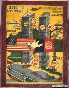 Afghan war rugs are made in Afghanistan by local, mostly female weavers. The tradition of rugs with war imagery date to the Soviet occupation in the late 70s.