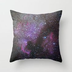 "North America Nebula and Pelican Nebula by Guido Montañés  Throw Pillow / Cover (16"" x 16"")"