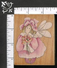 Stamps Happen Camellia Flowers Garden Fairy WM Rubber Stamp 50054 #StampsHappen