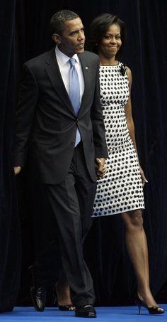 El presidente Barack Obama y la primera dama Michelle Obama: