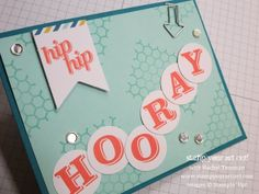 July's My Paper Pumpkin Party Pennants: Hip Hip Hooray card - Stamp Your Art Out!
