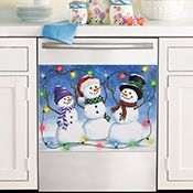 Set of 3 Winter Snowman Appliance Handle Covers from Collections Etc.