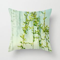 Weeping willow tree pillow Nature pillow tree by PhotographySpa