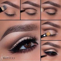 Eye Makeup Tips.Smokey Eye Makeup Tips - For a Catchy and Impressive Look Eyeshadow Tutorial Natural, Hooded Eye Makeup Tutorial, Contouring Tutorial, Natural Eyeshadow, Dark Eyeshadow, Eye Shadow Tutorial, Eye Makeup Tutorials, Eyeshadow Palette, Cut Crease Eyeshadow