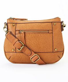 Another great find on #zulily! Tan Crossbody Bag #zulilyfinds
