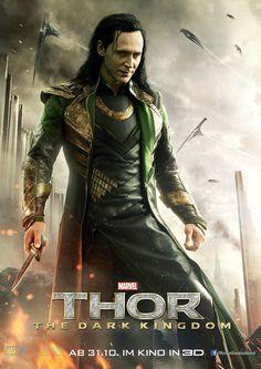 Thor 2 - O Mundo Sombrio ganha novos cartazes - Loki