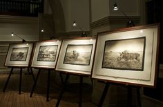 Platinum Prints at The Royal Geographical Society classic and simple exhibition display