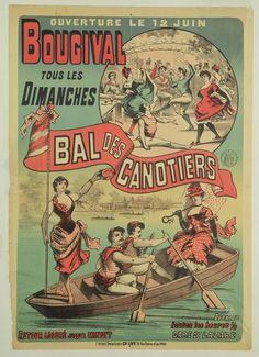 vintage poster 'Le Bal des Canotiers' at Bougival | Bridgeman Art