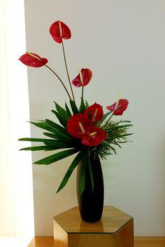 Church Flower Arrangements, Tropical Floral Arrangements, Creative Flower Arrangements, Flower Arrangement Designs, Church Flowers, Artificial Flower Arrangements, Rustic Wedding Flowers, Unique Flowers, Amazing Flowers