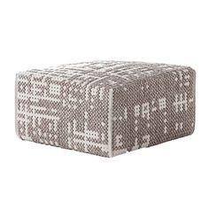 Gan Canevas Abstract Square Pouf | Shop for Gan @ ferriousonline.co.uk