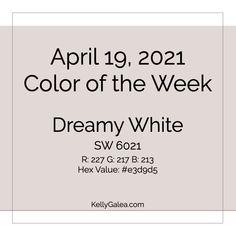 Your Color of the Week and energy reading for the week of April 19, 2021. Inklings of what's to come …