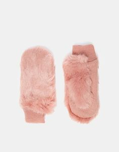 Whistles+Faux+Fur+Mittens