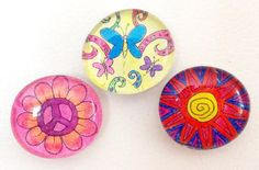Fridge Magnets Colorful Fun Great Stocking by TaunyasButtonsnBows