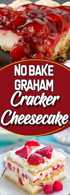 No Bake Graham Cracker Cheesecake #appetizer appetizer recipes easy #recipeoftheday recipe of the day #sundaysupper sunday supper ideas #dessert dessert ideas #dessertrecipes dessert recipes easy #desserttable dessert table ideas