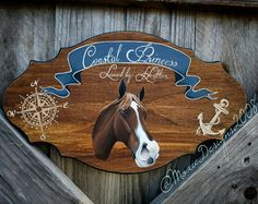 Custom theme Portrait Horse stall Sign by MoxieDesignsATX on Etsy