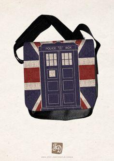 TARDIS Doctor Who - shoulder bag. $30.00.
