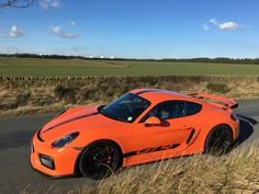 Porsche Cayman GT4 in Gulf Racing Orange... one of just 4 from the factory!..