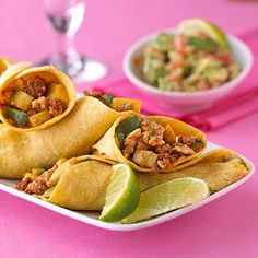 Chicken Soft Tacos These soft-shell tacos are filled with a saucy mixture of chorizo sausage and ground chicken. Ready in 20 minutes, they are a Mexican meal with family appeal. Easy Chicken Recipes, Baby Food Recipes, Mexican Food Recipes, Cooking Recipes, Healthy Recipes, Ethnic Recipes, Fruit Recipes, Turkey Recipes, Easy Cooking