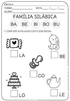 Atividade pronta família silábica - B