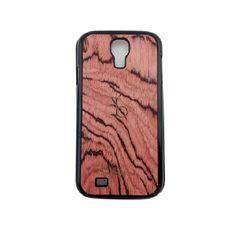 Funda de madera para celular Galaxy S4.