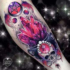 Purple Tattoos, Fake Tattoos, Flower Tattoos, Body Art Tattoos, Girl Tattoos, Sleeve Tattoos, Tribal Tattoos, Arabic Tattoos, Gem Tattoo
