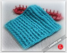 Textured Stripes Square. Free Loom Knit Pattern for 8x8 Square. Perfect for Lapghan and Afghans. Stitch pattern is very easy
