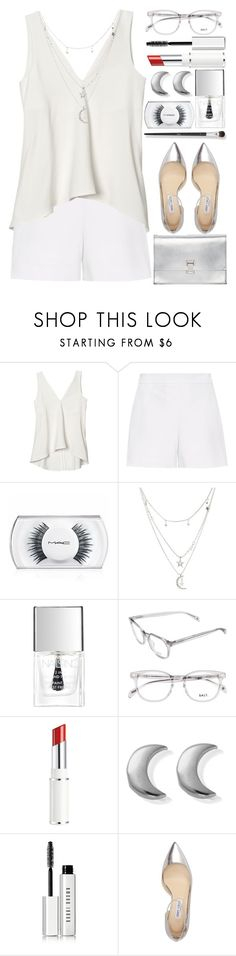 """""""Moon&Stars and Red Lips"""" by grozdana-v ❤ liked on Polyvore featuring Hallhuber, MAC Cosmetics, Charlotte Russe, Lipsy, Lancôme, ChloBo, Bobbi Brown Cosmetics, Jimmy Choo, N°21 and Proenza Schouler"""
