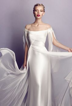 Collections of wedding dresses in Rome Elvira Gramano Wedding Attire, Wedding Gowns, Mode Inspiration, Wedding Inspiration, Bustier, Bridal Dresses, Evening Gowns, Beautiful Dresses, One Shoulder Wedding Dress