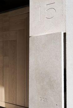 LCA Luigi Cafiero Architetti, Luigi Spina · Restoration and renovation of a historical building in Caserta Home Interior Design, Interior And Exterior, Interior Decorating, Wayfinding Signage, Signage Design, Architecture Details, Interior Architecture, Contemporary Architecture, Post Bus