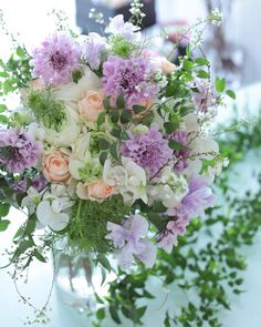 Fresh Flowers, Beautiful Flowers, Floral Arrangements, Flower Arrangement, Purple Wedding, Flower Decorations, Floral Wreath, Bloom, Wreaths