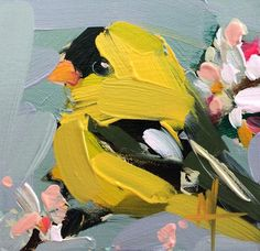 Goldfinch no. 68 Original Oil Painting by Angela Moulton pre-order